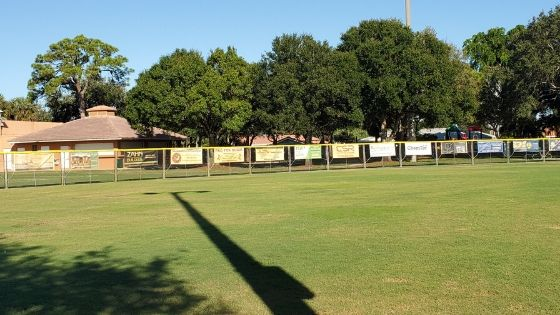 temporary baseball fence