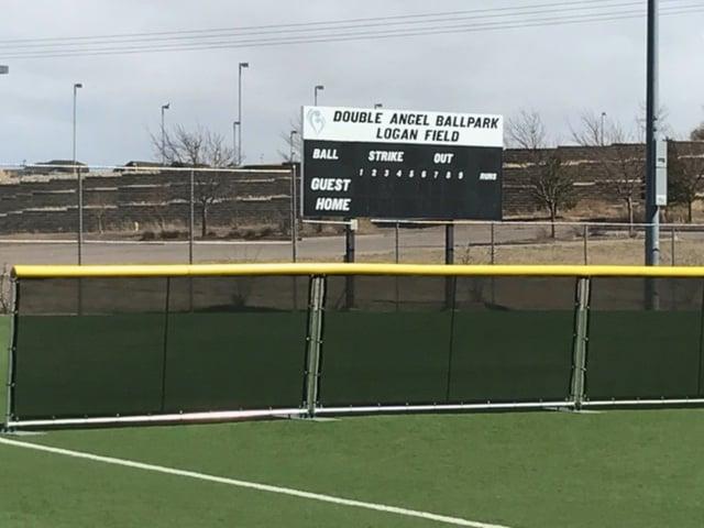 portable baseball fence system