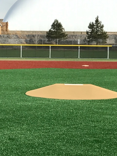 portable outfield fence for turf